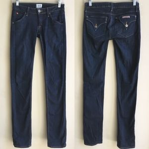 Hudson Carly Straight Leg Jeans Pocket Flap 24